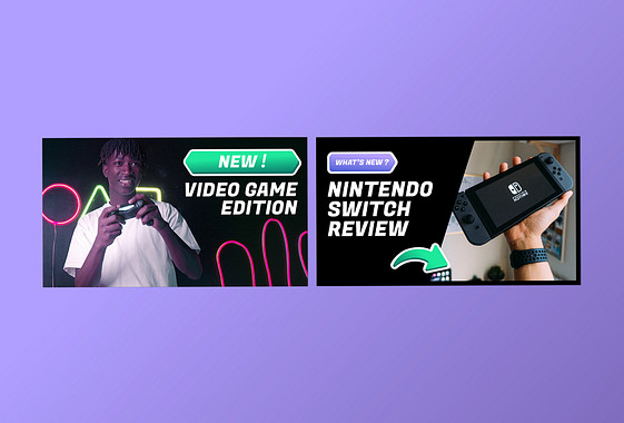 Gaming and Tech Video Thumbnails