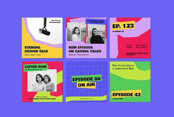 Set Creativo de Anuncios de Podcast