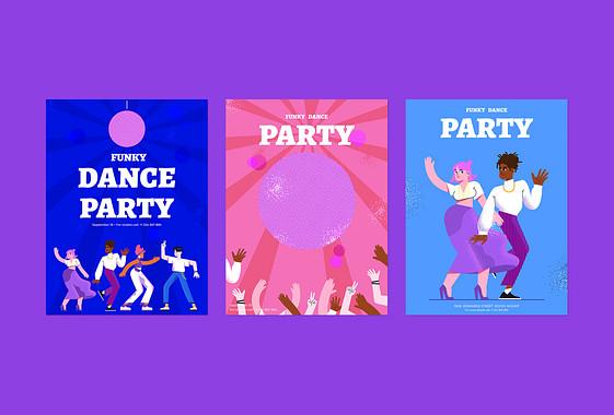 Kit de Designs Noite de Dança Animada