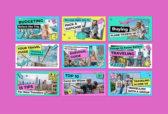 Miniatures de vidéos sur les conseils de voyage
