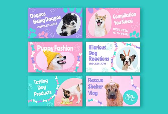 Pack de Miniaturas de Videoblogs de Cachorros