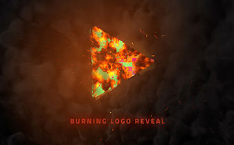 Burning Logo Reveal
