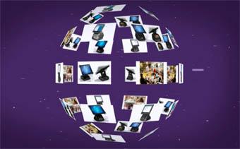 3D Globe Slideshow