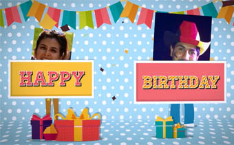 Birthday Party Video Card