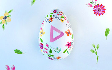Floral Easter Egg Logo