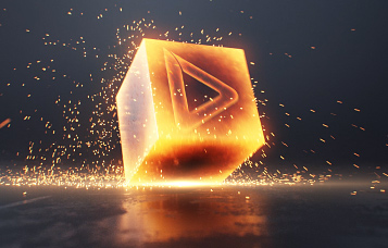 Animation de logo - Cube flamboyant