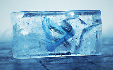 Logo explosion de glace