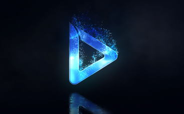 Cinematic Particle Logo