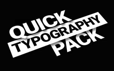 Pacote de Tipografia Rápida