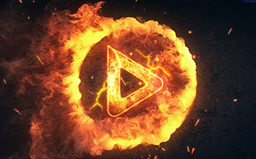 Flaming Circle Logo Reveal