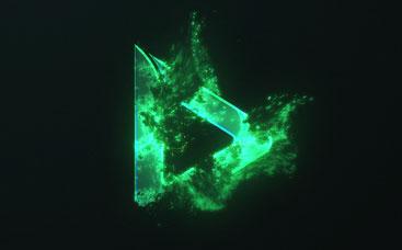 Vibrant Dissolve Logo Reveal