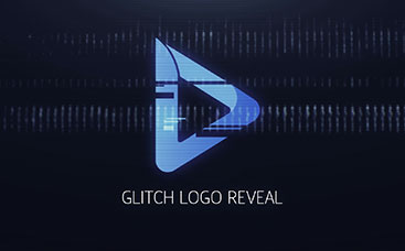 Animation de logo glitch