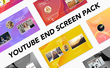 YouTube End Screen Pack