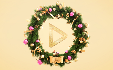 3D Christmas Wreath Logo