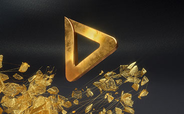 Golden Mesh Logo Reveal