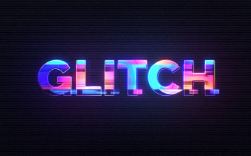 Logo polychrome glitch