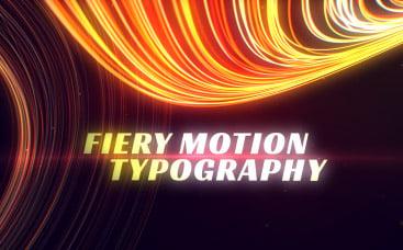 Движущаяся Огненная Типографика