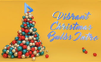 Vibrant Christmas Bulbs Intro