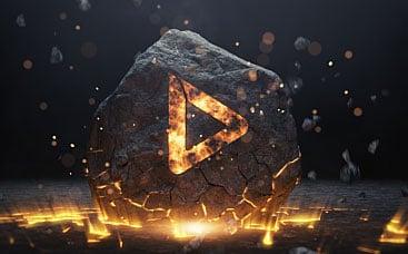 Logo de pierre brisée