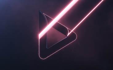 Анимация лого Неоновый лазер