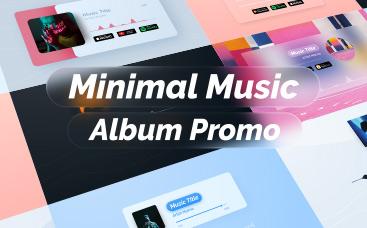 Promoción Minimalista de Álbum de Música