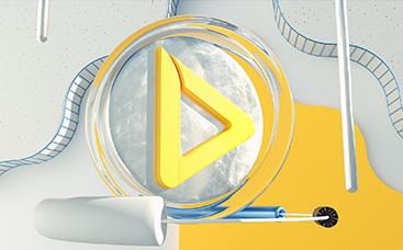 Geometrisches Abstraktions-Logo