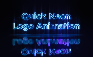 Quick Neon Logo Animation