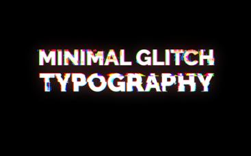 Minimal Glitch Tipografi