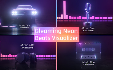Gleaming Neon Beats Visualizer