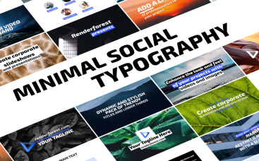 Минималистичная типографика для соцсетей