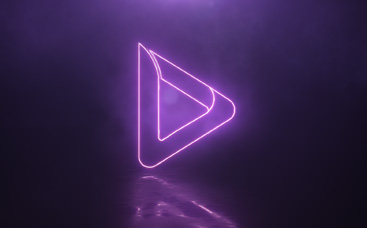 Neon Reflections Logo Reveal
