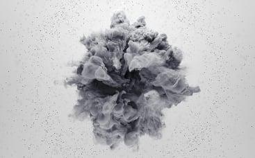 Rotierender Rauch Logo-Reveal