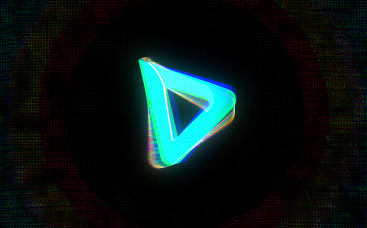 Logo de distorsion à l'effet de glitch