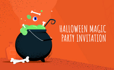 Halloween Magic Party Invitation