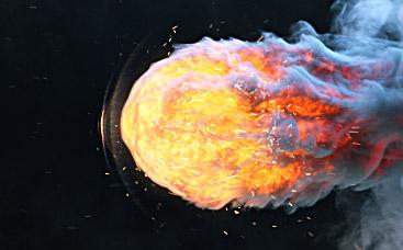Animation enflammée du logo