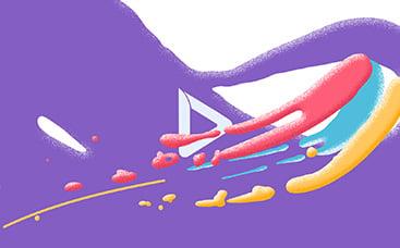 Анимация лого: Всплеск красок