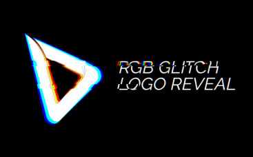 RGB Glitch Logo Reveal