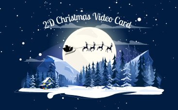 2D Christmas Video Card