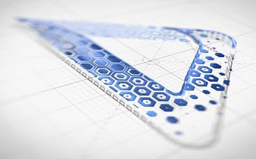 Анимация лого: Чертеж шестиугольника