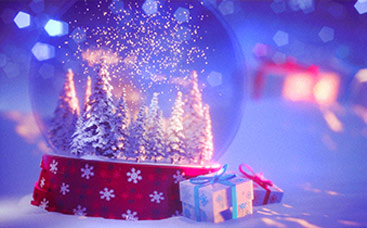 Magic Christmas Snow Globe