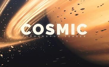 Тизер Космическая типографика