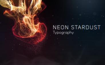 Tipografia de Poeira Estelar Neon