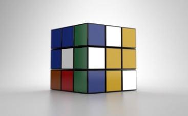 Анимация лого: Кубик Рубика