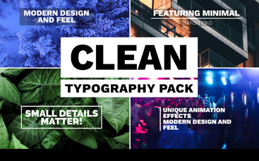 Clean Typography Pack