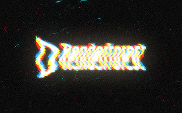 Animation de logo Interférence glitch