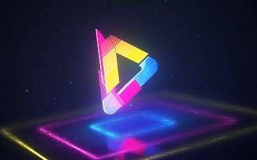 Renkli Hologram Logo Gösterimi
