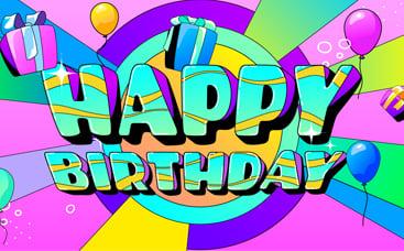 Pack d'animation d'anniversaire coloré