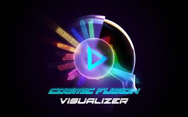 Visualiseur de musique - Fusion cosmique