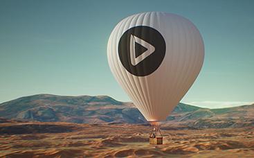 「熱気球」ロゴ動画