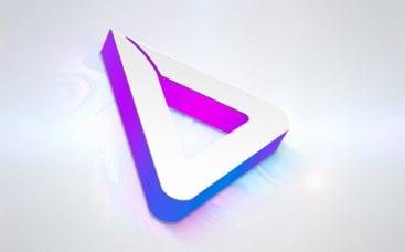Анимация лого: Иридисцентный минимализм
